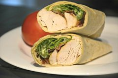 Easy Chicken Bacon Caesar Salad Wraps