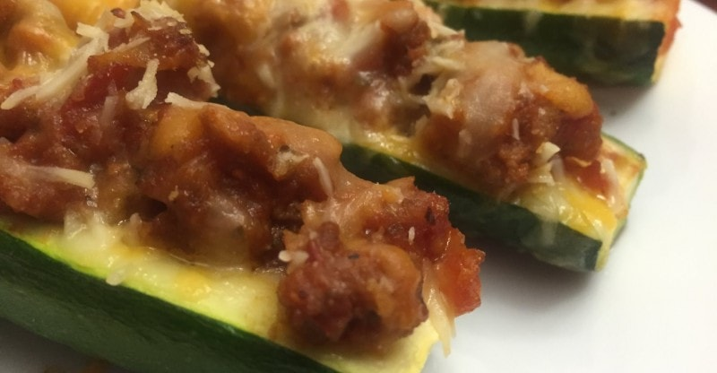Stuffed Zucchini Boats Header