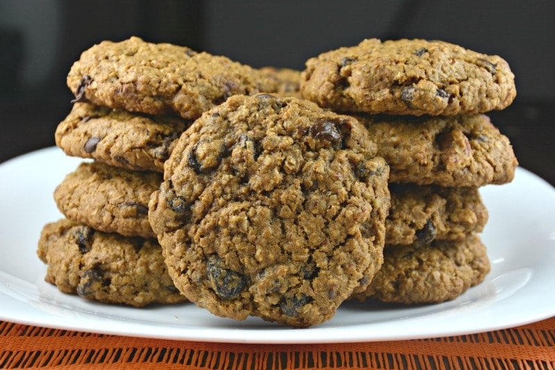 Molasses Oatmeal Chocolate Raisin Cookies