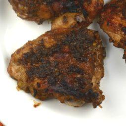Balsamic Glazed Garlic Chicken Thighs