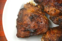Molasses Glazed Chicken Thighs