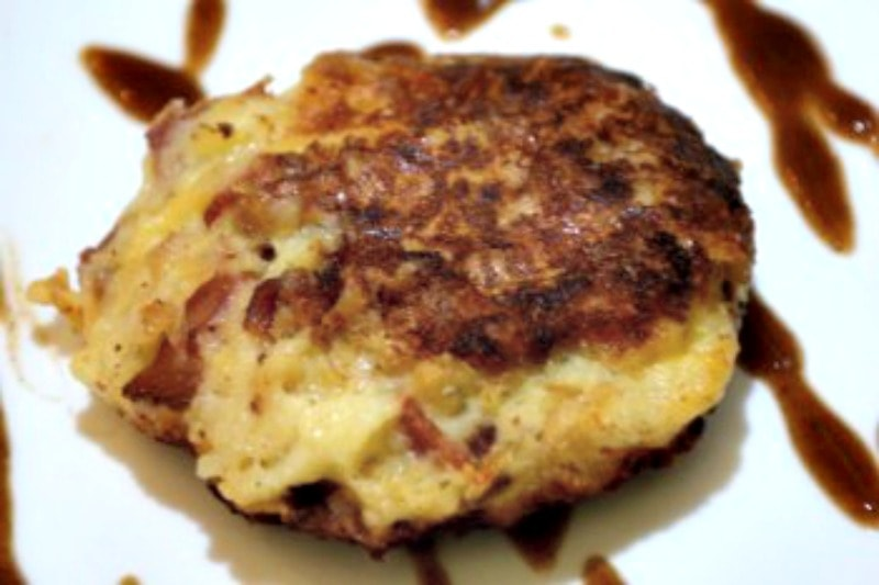Bacon And Cheese Leftover Mashed Potato Burgers