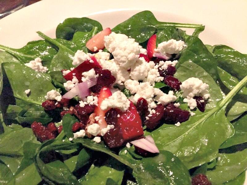 Strawberry Spinach Salad with Chardonnay Vinaigrette
