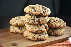 Grandma's Oatmeal Chocolate Raisin Toffee Cookies