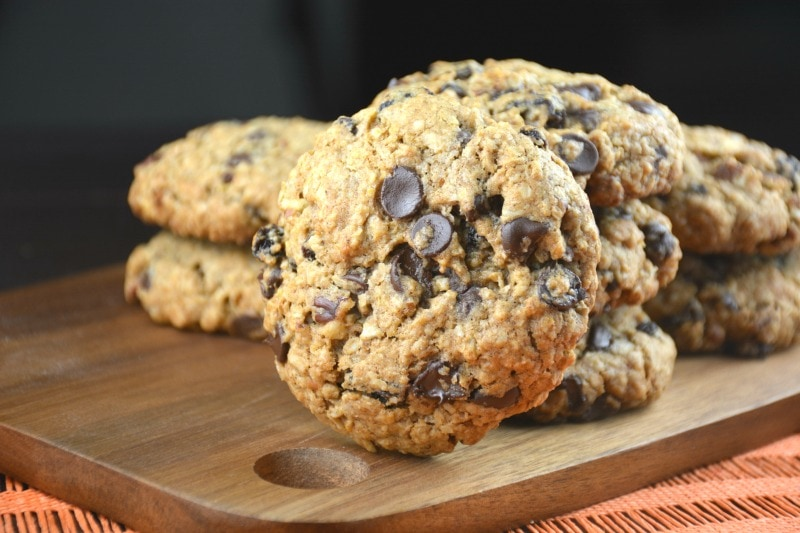 Grandma's Oatmeal Chocolate Raisin Toffee Cookies