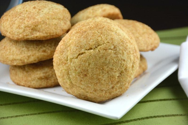 Sweet Lemony Crackle Cookies