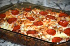Cheesy Pizza Spaghetti Casserole