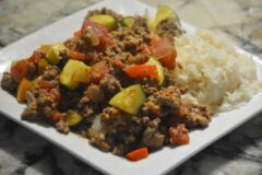 Taco Zucchini Beef and Pork Skillet
