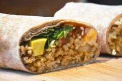 Meatless Lunch Burrito
