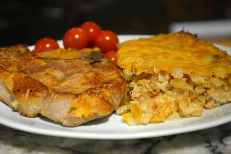 Easy Creamy Potato Pork Chop Casserole