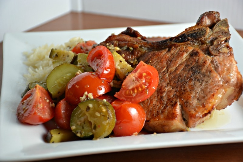 Nick's Greek Pork Chops