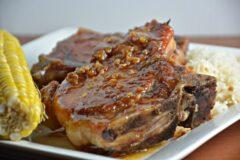 Maple Mustard Glazed Pork Chops