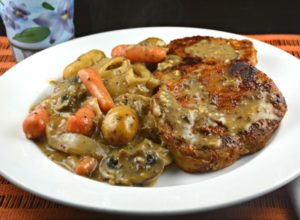 Slow Cooker Pork Chops with Potatoes and Mushrooms