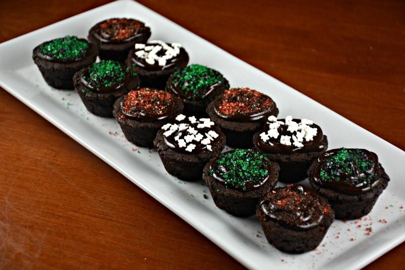 Baileys Brownie Bites with Chocolate Baileys Ganache