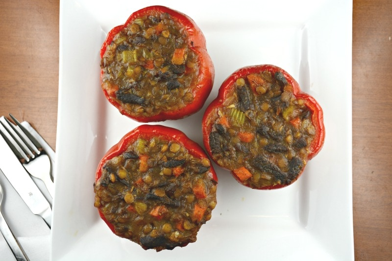 Lentil Short Rib Stuffed Peppers