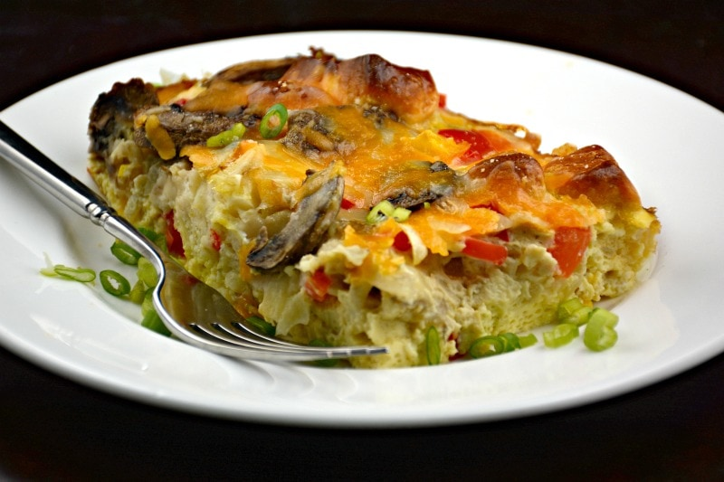 Eggs, Veggies and Cheese Biscuit Bake