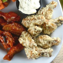 Baked Creamy Garlic Parmesan Chicken Wings