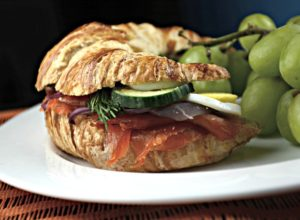 Smoked Salmon and Egg Croissant