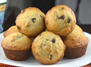 Chocolately and Nutty Banana Muffins