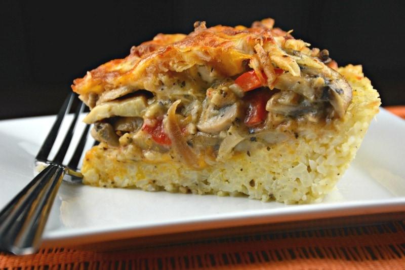 Chicken Rice Crust Pie