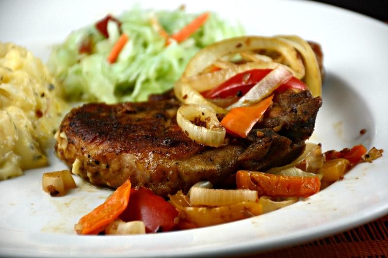 Balsamic Pork Chops with Wine and Garlic - Kitchen Divas