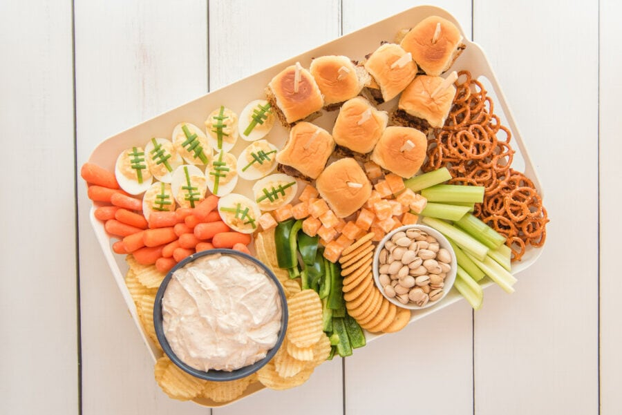 appetizer board ideas game day food board