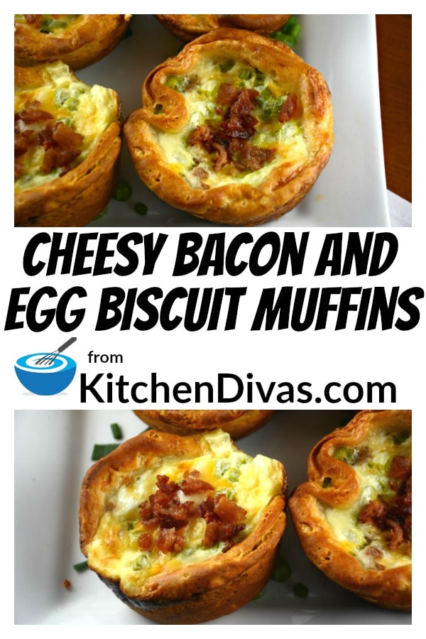 Cheesy Bacon and Egg Biscuit Muffins can be filled up with anything. We have used both cooked bacon and sausage and loved the result every time. We have also used only chopped vegetables and these muffins tasted delicious! The only thing you need is your imagination to make these Cheesy Bacon and Egg Biscuit Muffins just the way you like them every time!  https://kitchendivas.com/cheesy-bacon-and-egg-biscuit-muffins/