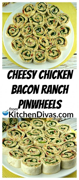 I just can't get enough of theseCheesy Chicken Bacon Ranch Pinwheels! They are full of everything that I love. Cheese, chicken, bacon and the flavor of ranch, in every single bite! You can leave these as wraps and eat them the exact same way that my son does or cut them into pieces or pinwheels like my husband and I prefer! The choice is up to you. https://kitchendivas.com/cheesy-chicken-b…-ranch-pinwheels/