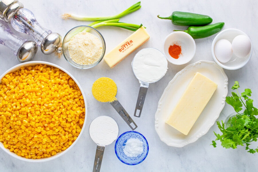 Mexican Corn Casserole Ingredients