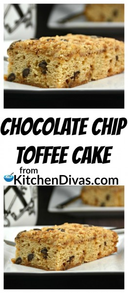 Ken, my husband, absolutely loves thisChocolate Chip Toffee Cake He requests it more often than he gets it though! There are only so many hours in the day! The crust on top of this cake is so yummy, especially warm. With or without iced or whipped cream! The most important part of this recipe is that I really like making him this cake because it is so easy! Really! He has no idea!   https://kitchendivas.com/chocolate-chip-toffee-cake/