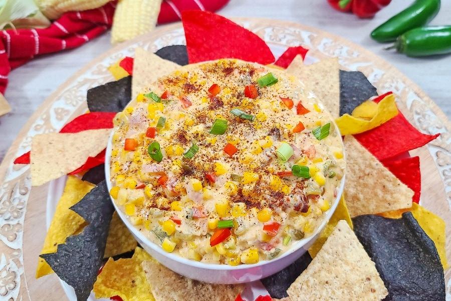 Easy Cheesy Hot Mexican Corn Dip