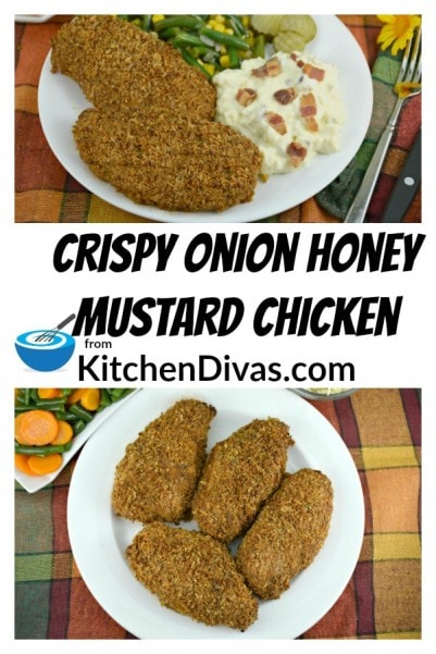 Ken introduced me years ago to this Crispy Onion Honey Mustard Chicken and I have to tell you it tastes great. The flavors blend perfectly together. Honey, Mustard and Crispy Fried Onions. You cannot go wrong. Really.  https://kitchendivas.com/frenchs-fried-onion-honey-mustard-chicken/