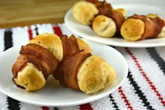 Bacon Wrapped Cheese Biscuits