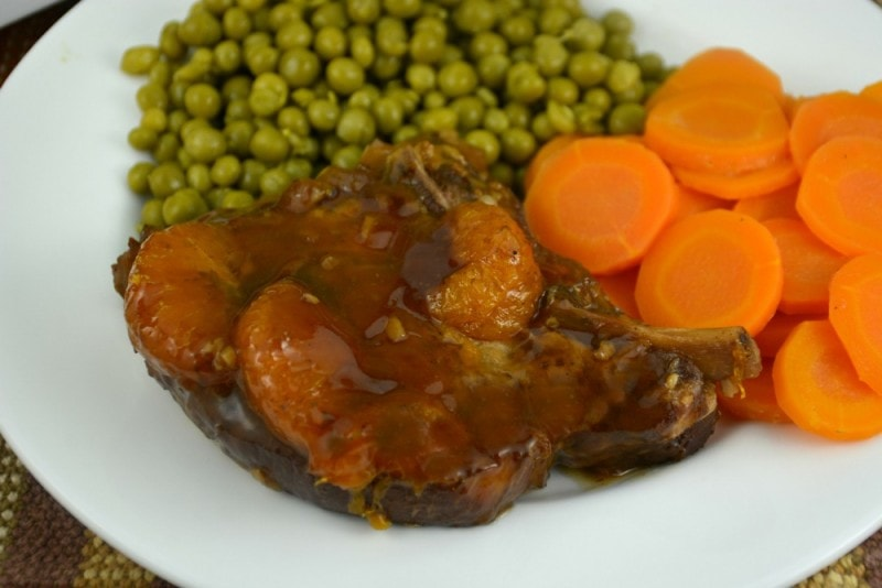 Slow Cooker Sweet Mandarin Pork Chops
