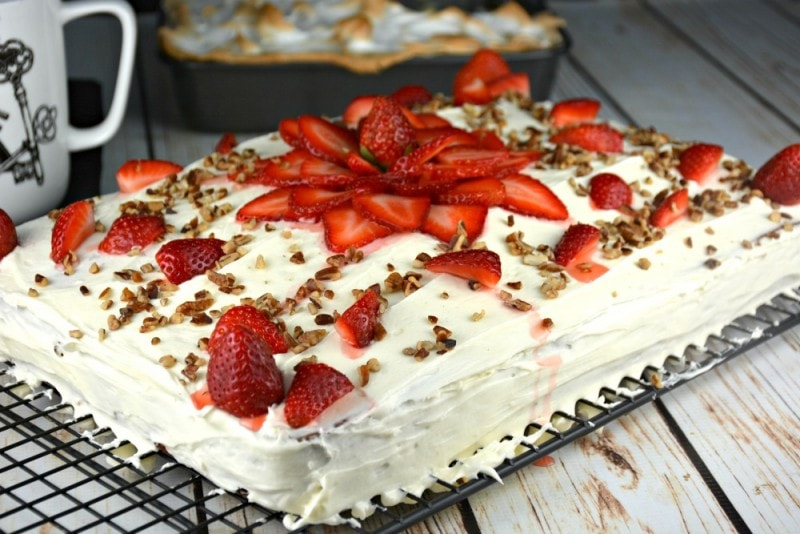 The Best Strawberry Banana Cake