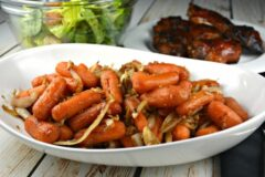 Sweet Balsamic Roasted Carrots and Onions