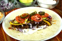 Italian Slow Cooker Pulled Beef Tacos