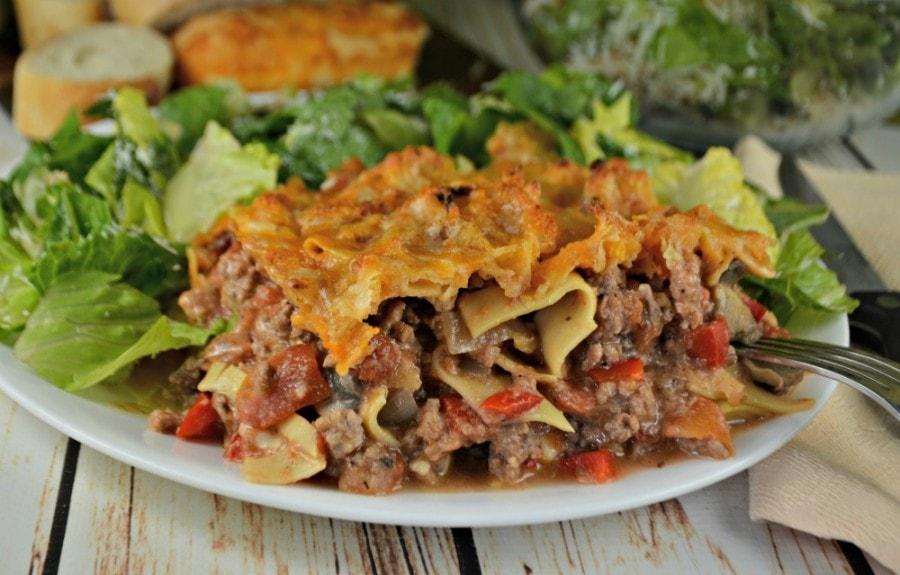 Meaty Noodle Casserole