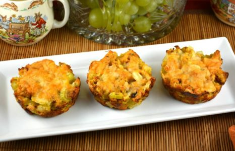 Easy Cheesy Stuffing Muffins