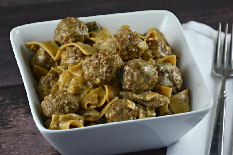 Easy One Pot Meatball Stroganoff