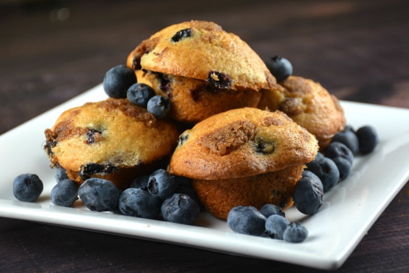 The Best Mini Blueberry Muffins