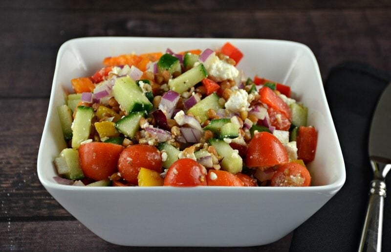 Greek Lentil Feta Salad