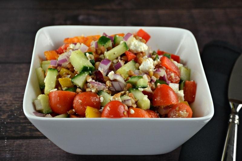 Greek Lentil Feta Salad