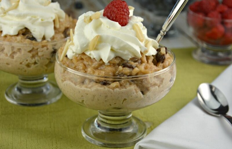Stovetop Raisin Almond Rice Pudding