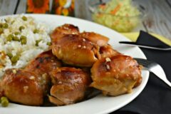 Balsamic Apricot Glazed Chicken Thighs
