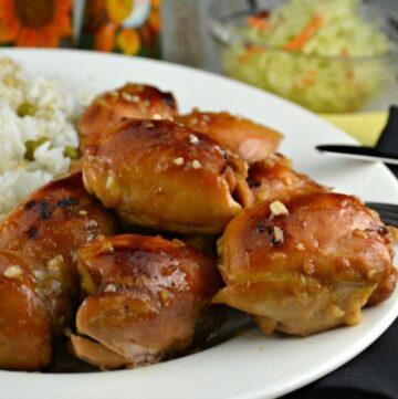 Balsamic Apricot Glazed Chicken Thighs