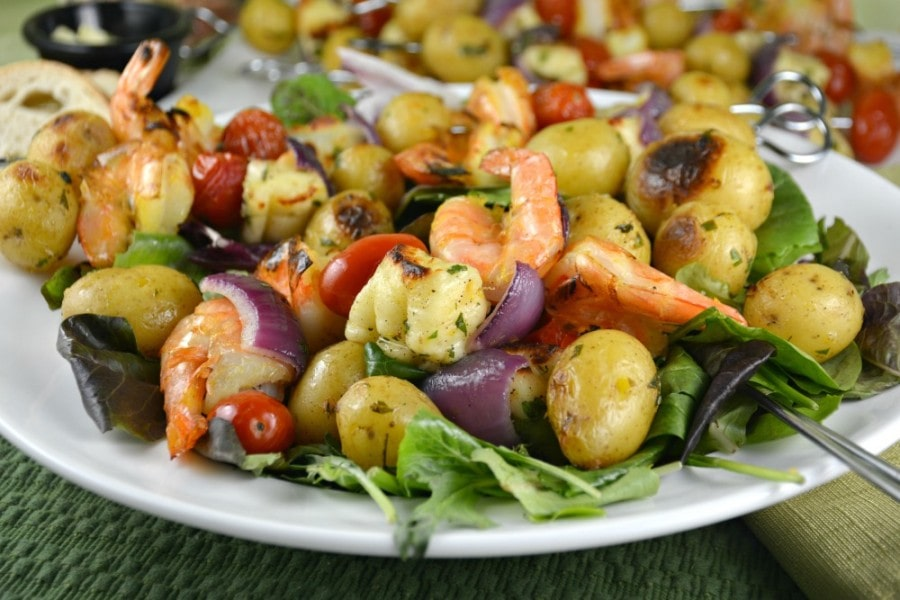 Shrimpy Potato Cheese Kebabs