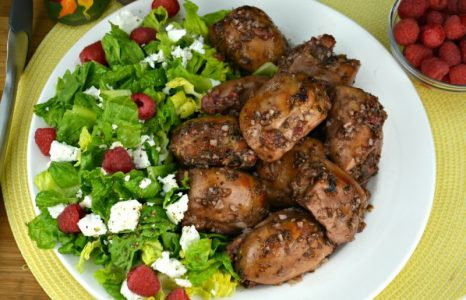 Raspberry Balsamic Baked Chicken