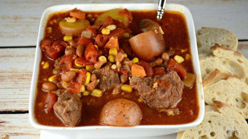 Grandma's Easy Slow Cooker Cowboy Beef Stew