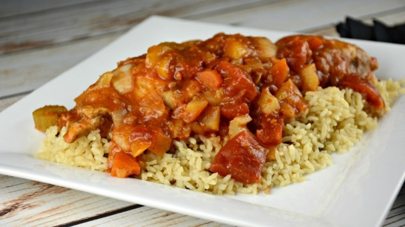 Simple Slow Cooker Curry Pineapple Chicken
